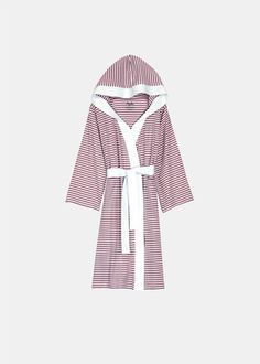 Knee Length Striped Jersey Knit Robe - Take an extra 25% off any ShopNineSpace.com order with Code: PINTEREST25