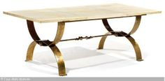Marcel Coard parchment dining table