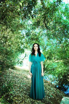 Green+Boho+Maxi+Dress+by+Wildlovevintage+on+Etsy,+$89.00
