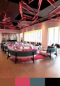 30 RESTAURANT INTERIOR DESIGN COLOR SCHEMES http://www.designinvogue.com/30-restaurant-interior-design-color-schemes/