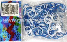 White n Deep Sea Blue (Limited Edition) | Rainbow Loom, an educational rubber band craft for children.