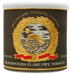 McClelland Tinned Personal Reserve: Blackwoods Flake 100g Tobaccos at Smoking Pipes .com