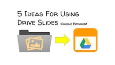5 Ideas For Using Drive Slides A Classroom, Google Classroom, Chrome Extensions, Instructional Strategies, Google Drive, Meant To Be, Improve Yourself, Technology, Education