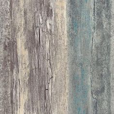 Items similar to Chippy Distressed Weathered Wood Wallpaper - Shabby Rustic Country Cottage, Teal Blue Gray Faux, Coastal Chic - Sold By The Yard 35328 so on Etsy Teal Wood Wallpaper, Barnwood Wallpaper, Textured Wallpaper, Wallpaper Roll, Shabby Chic Wallpaper, Wallpaper Warehouse, Beach Wood, Aging Wood, Repurposed Wood