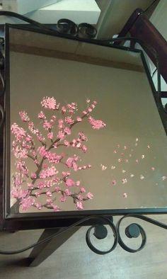 DIY Painted mirror....
