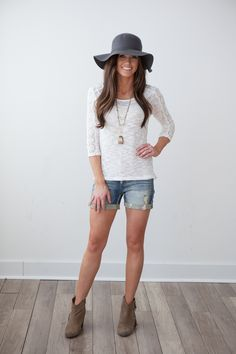 Magnolia Boutique Indianapolis - Chiffon Back Knit Top - Ivory, $32.00 (http://www.indiefashionboutique.com/chiffon-back-knit-top-ivory/)