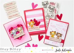 Itsy Bitsy - The Blog place: 3 Techniques to Create Card Backgrounds with Chalk Ink Chalk Ink, Romantic Cards, Hello Everyone, Handmade Cards, Card Making, Backgrounds, Arts And Crafts, Just For You, Valentines