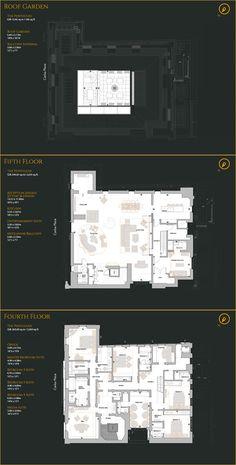 Mayfair House London The Penthouse Apartment Floor Plans, House Floor Plans, Colonial House Exteriors, Click Flooring, Real Estate Logo Design, House Plans One Story, Dream House Interior, House Blueprints, House Layouts