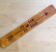 Leather Bookmark Third Anniversary Gift Bookmark Western Bookmark So Far So Good by LoveThatLeather