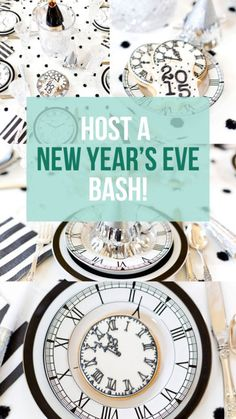 Host a 2016 New Year's Eve Bash New Years Eve Events, New Years Eve Day, New Years Party, Nye Party, Party Time, New Years Eve Dessert, New Years Decorations, New Year Celebration, Lets Celebrate
