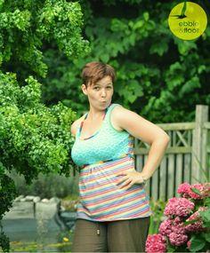 Ein Top für Damen mit verschiedenen Körperlängen und Weiten