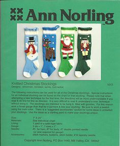 Ann Norling 1013 Knitted Christmas Stockings Knitted Christmas Stocking Patterns, Knitted Christmas Stockings, Christmas Knitting, Country Cottage Needleworks, Stitch Patterns, Crochet Patterns, Hummingbird Flowers, Earth Design, Cat Hat