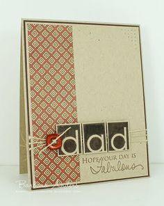 Father's day card, handmade card