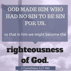 NIV Verse of the Day: 2 Corinthians 5:21