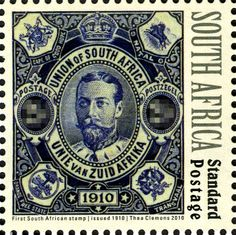 Stamp: Opening of Union Parliament (South Africa) (Opening of Union Parliament) Mi:ZA 2 Pretoria, Union Of South Africa, Colonial, Postage Stamp Art, Vintage Stamps, Handmade Books, Afrikaans, African History, Stamp Collecting