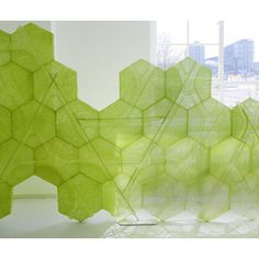 Mesh Screen - modern - screens and wall dividers - by Studio Aisslinger Environmental Graphics, Environmental Design, Kinetic Architecture, Landscape Architecture, Privacy Walls, Multifunctional Furniture, Artistic Installation, Mesh Screen, Screen Design