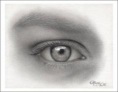 Augen zeichnen - ein Auge einer Frau zeichnen - Anleitung wie man mit Bleistifte Augen beim Menschen zeichnent von Faith Te