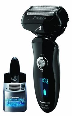 Panasonic ES-LV81-K Arc5 Electric Shaver Wet/Dry with Multi-Flex Pivoting Head and Automatic Cleaning System for Men