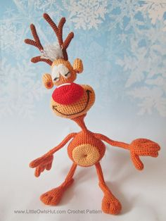Ravelry: 035 Reindeer Rudolf toy Ravelry pattern by Little Owl's Hut