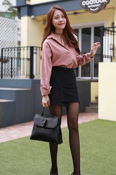Cute Asian Fashion, Korean Fashion, Nice Dresses, Dresses For Work, Rock Outfits, Business Outfits, Beautiful Asian Girls, Dress To Impress, Clothes For Women