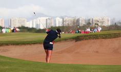 Aug 20, 2016; Rio de Gerina Piller of the United States hits out of a fairway bunker on the first in the final round of women's golf during the Rio 2016 Summer Olympic Games at Olympic Golf Course.   -  Best images from Aug. 20 at the Rio Olympics