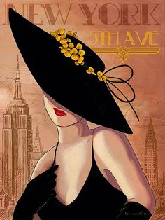 65 Trendy Ideas for fashion illustration background art deco Art And Illustration, Illustration Pictures, Art Vintage, Vintage Posters, Art Pop, Kunst Poster, Art Deco Posters, Girl With Hat, Fashion Art
