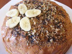 Блинный торт со сгущенкой и бананами: Украсить торт