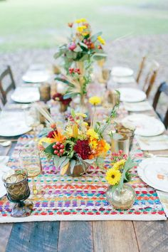 Boho chic style is extremely popular due to its whimsy and colorful decor and relaxed clothes to wear. Many couples choose this style for their weddings, and why not try to organize a bridal party in it? That's gonna be fun!