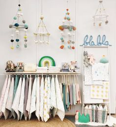 Connecting with new retail shop owners and saying hi to old friends blabla display Children Boutique Display, Kids Store Display, Clothing Booth Display, Clothing Displays, Children's Boutique, Boutique Interior, Garage Boutique, Hope Boutique, Boutique Ideas