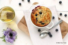 Clafoutis met blauwe bessen - Mind Your Feed