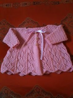 Baby Lace Sweater Free Knitting Pattern plus 9 more patterns for girls.