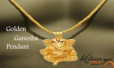 Ganesha Gold Pendant in 22K  Buy Now :http://buff.ly/1mQ9UUH COD Option Available With Free Shipping In India