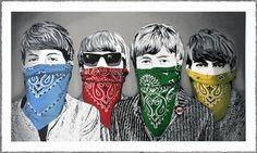 """""""Beatles Bandidos"""" Mr. Brainwash"""
