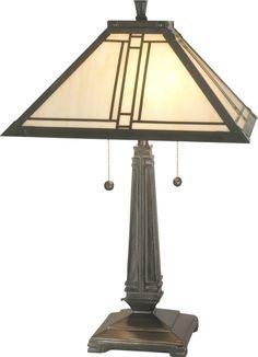 2-Light Table Lamp Mica Bronze TT70735 | LampsUSA