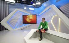 Marcos Leandro no novo cenário do Globo Esporte MG  (Foto: Divulgação / TV Globo Minas)