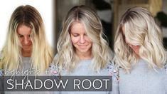 Babylight Tutorial with a Shadow Root on Blonde Hair (Easy Technique! Toner For Blonde Hair, Blonde Hair With Roots, White Blonde Hair, Bleach Blonde Hair, Blonde Hair With Highlights, Brunette To Blonde, Dark Blonde, Root Smudge Blonde, Shadow Root Blonde