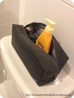 Trousse de toilette pour homme tuto
