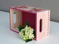 Caja decoupage. Wooden box
