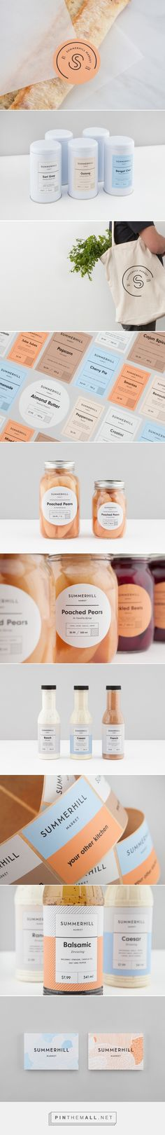 Packaging Design and Branding: Summerhill Market - created via https://pinthemall.net