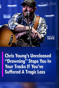 """Listen to """"Drowning,"""" Country singer Chris Young's new song about a friend gone too soon. For anyone who has experienced grief and loss, this song is for you. Best Country Singers, Country Songs, Chris Young Music, Alan Young, Cool Countries, Amazing Things, News Songs, Grief, Scriptures"""