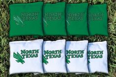 North Texas Mean Green All Weather Cornhole Replacement Bag Set
