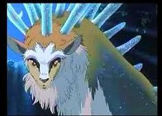 A head shot of the deer god from one of my all-time favorite films, Princess Mononoke. Watch it if you want your mind blown. Seriously. Its strange, unearthly but still natural looking human/animal face just boggles the brain.