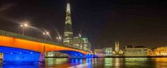 The Shard from across the River Thames @ Night.