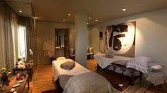 Calming interior at the Ellerman House Spa available for guests. www.ellerman.co.za