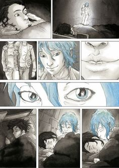 Film adaptation of Julie Maroh's Blue is the Warmest Color wins Palme d'Or Cool Art Drawings, Drawing Sketches, Storyboard, Georges Wolinski, Lgbt, Blue Is The Warmest Colour, 10 Film, Colorful Wallpaper, Warm Colors