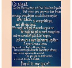 For all my friends, whether you're in the band or the Color Guard!