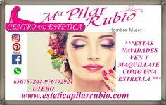 www.esteticapilarrubio.com Preocupada por estar perfecta estas fiestas? Ven a CENTRO DE  ESTETICA M.PILAR RUBIO a tu máster class profesional de auto maquillaje y te ayudamos a resaltar tu belleza natural o si no te atreves dejalo en nuestras manos y ven a que te realicemos un maquillaje profesional y recibe las fiestas como una estrella. #maquillajeprofesional #claseautomaquillaje  #esteticapilarrubio #pilarrubio #masterclassmaquillaje