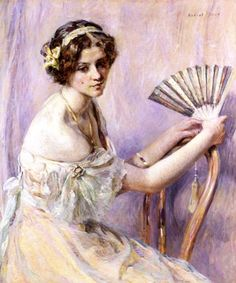The Peal Fan ~ Robert Lewis Reid ~ (American: 1862-1929)