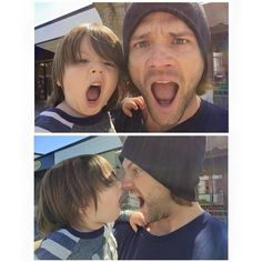 Jared and his son. This is the cutest thing I've ever seen