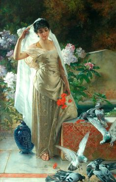 Girl with Pigeons , Conrad Kiesel http://sd-5.archive-host.com/membres/playlist/92471911260242550/Connie_Francis/Connie_Francis_-_I_will_wait_for_you.mp3